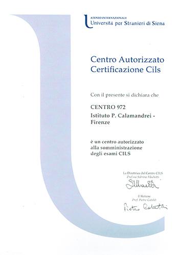 CILS – Certificazione di Italiano come Lingua Straniera – Firenze